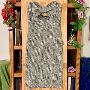 NWT Forever 21 Houndstooth Bow Tube Dress L